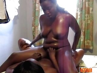 """""""black Lesbos In Undergarments Fucking With Faux-cock"""""""
