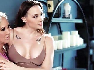 Cougar Brandi Love And Chanel Preston Licks Nubile Eliza Labia