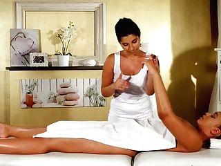Exotic Adult Movie Stars Briana Bounce, Amy Crimson In Amazing Rubdown, Finger-tickling Xxx Clip