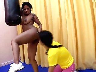 Brazilian All Girl Bootie Munching Emily Brasil