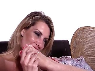 Sapphic Mummy Gilf Foot Service Four - Lacey Starr