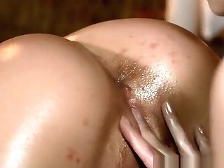 Big Titties Nubile Has Cunt Packed With Lezzy Thumbs