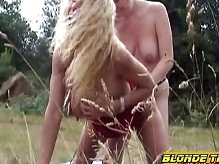 Youthful Sapphic Nubile Casted By Mummy Outdoor