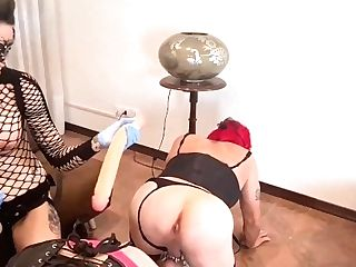 Two Bitches Feminized Share And Rail Same Big Faux-cock & Have A Syncro Culo Fuck Under My Manage