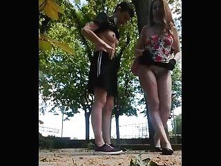 Jovencita Morbosa Pide Que La Folle En Un Parque