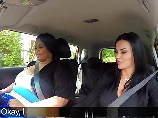 Fat Black Driving Student Munches Examiner