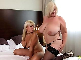 Oldnanny Brit Matures Lesbo Tonguing