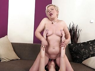 Trimmed Teenager And Granny Have Lezzie Fuck-a-thon They Won't Shortly Leave Behind