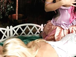 Stunning Dolls In Sexy Undergarments Have Faux-cock Fuck Session